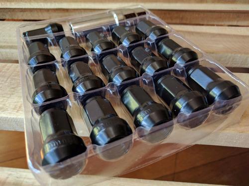 juego 16 tuercas pernos llanta negro (1.5x12mm) tuning carro