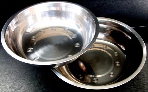 juego  2 bowl mezclador acero inoxidable,tortas, reposteria