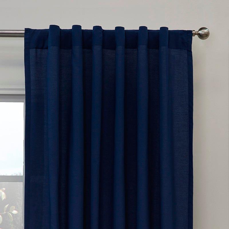 Juego 2 cortinas seven azul marino vianney envio gratis en mercado libre - Cortinas azul marino ...