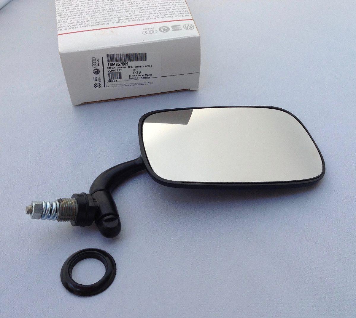 Juego 2 espejos negro vw sedan originales retrovisor vocho for Espejos de pared originales