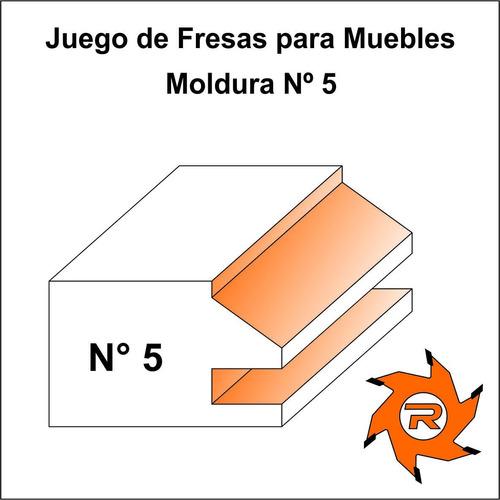 juego 2 fresas muebles 20/22 mm tupi widia madera 6 cuotas