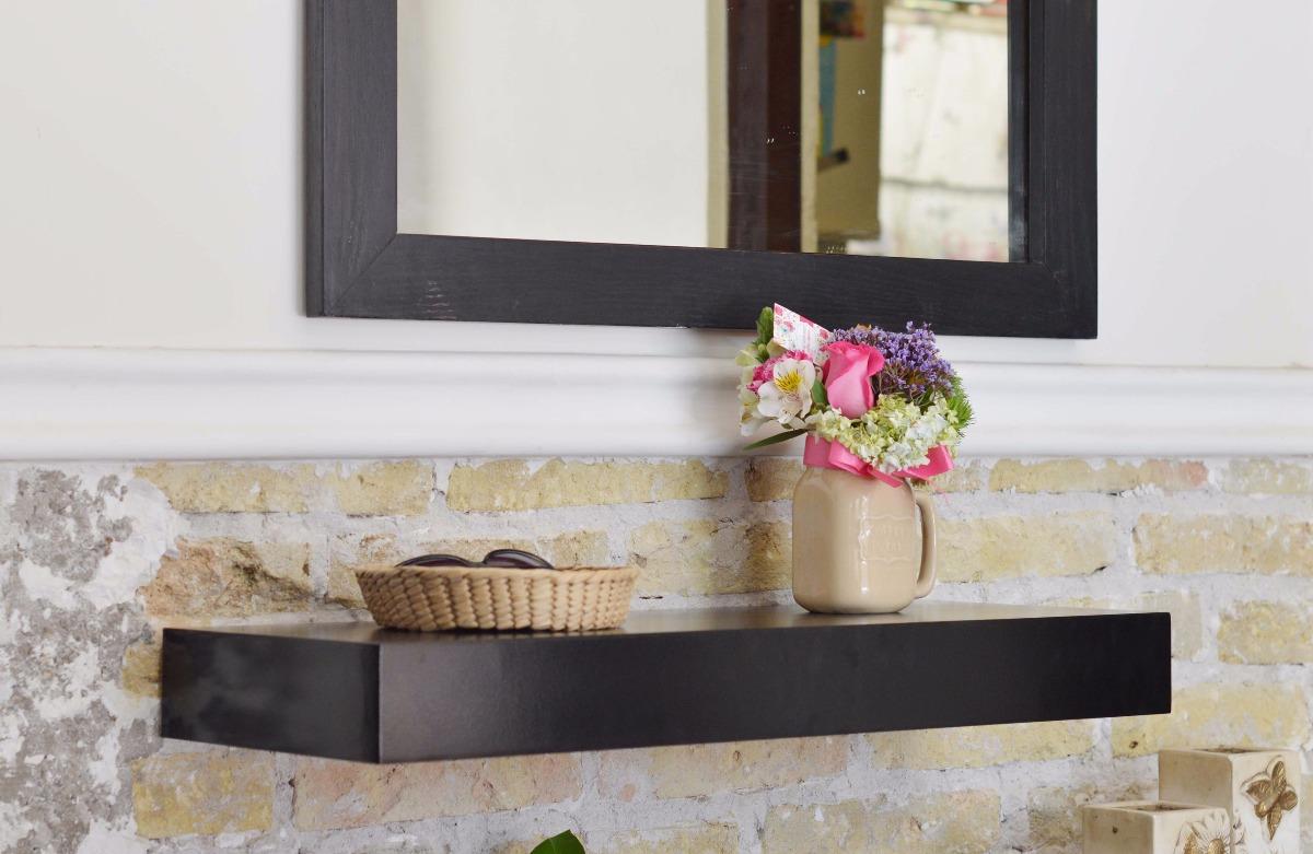 Juego 2 repisas flotantes caj n 50 cms mueble sala for Muebles con espejo para sala