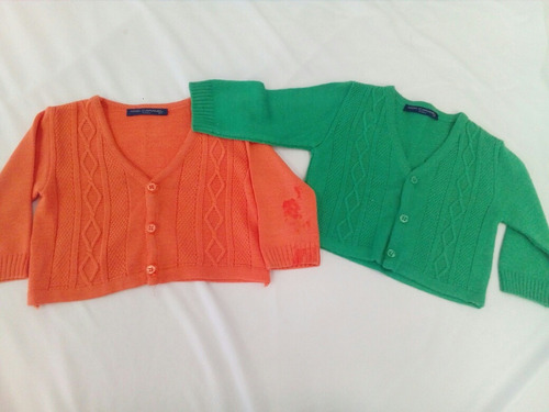 juego 2 sueter moncaramel naranja/verde * la segunda bazar