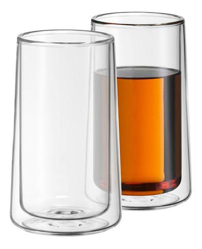 juego 2 vasos ''ice tea time'' bebidas frias/calientes wmf