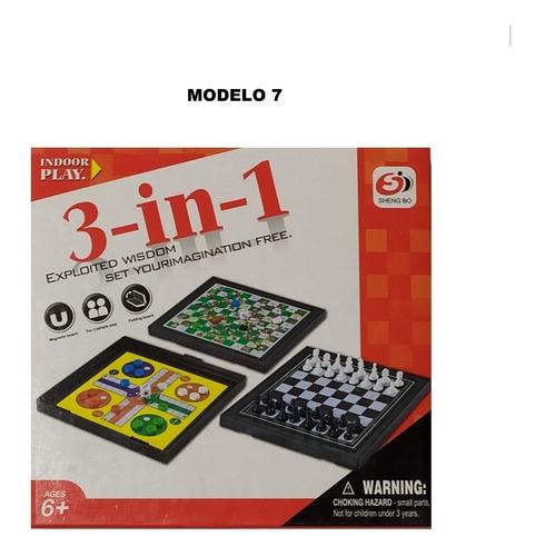 juego 3 en 1 ajedrez ludo y escaleras y serpientes nuevo