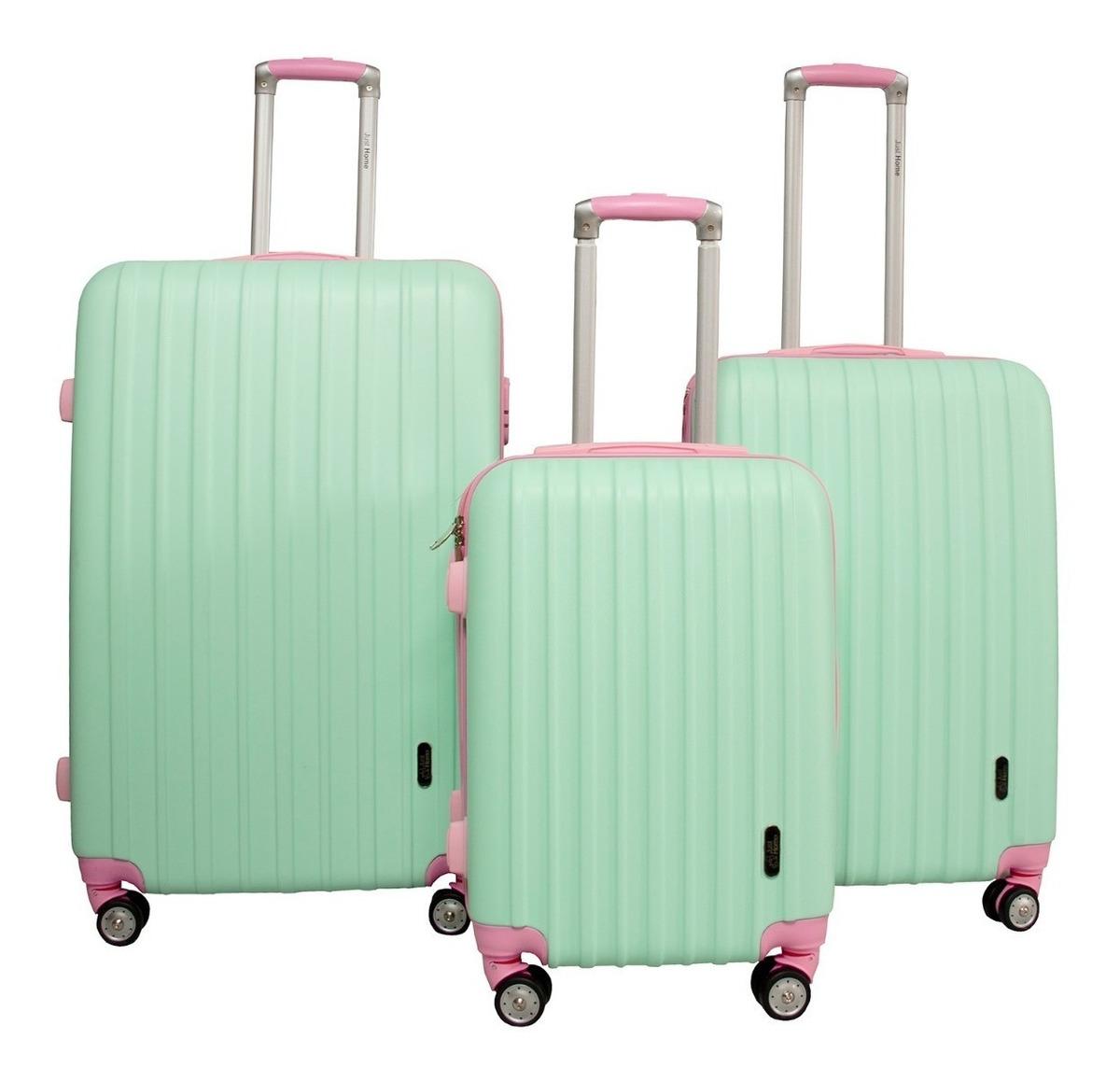 771cf01b8 juego 3 maletas rigidas viaje equipaje juvenil vacaciones. Cargando zoom.
