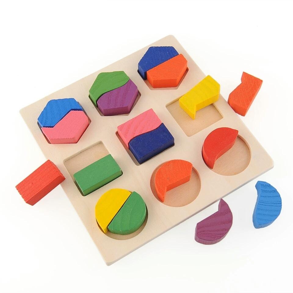 Juego 3d De Encajar Figuras Material Didactico Montessori 14 900