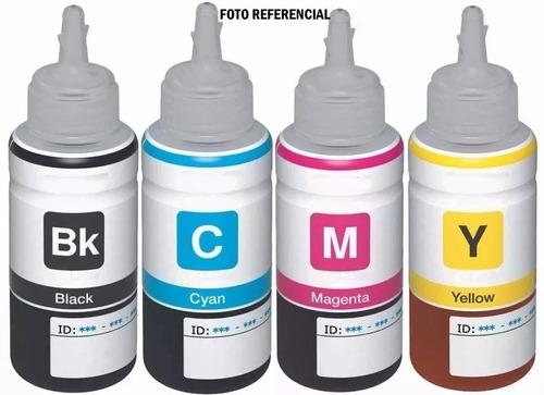 juego 4 botellas tintas impresoras epson l210 l110 l355 +