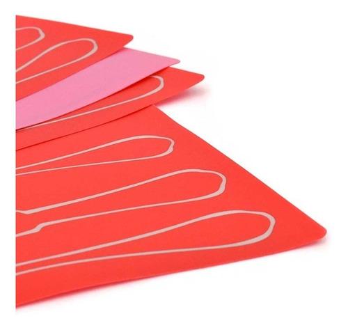 juego 4 manteles individuales diseño cubierto coral  vianney