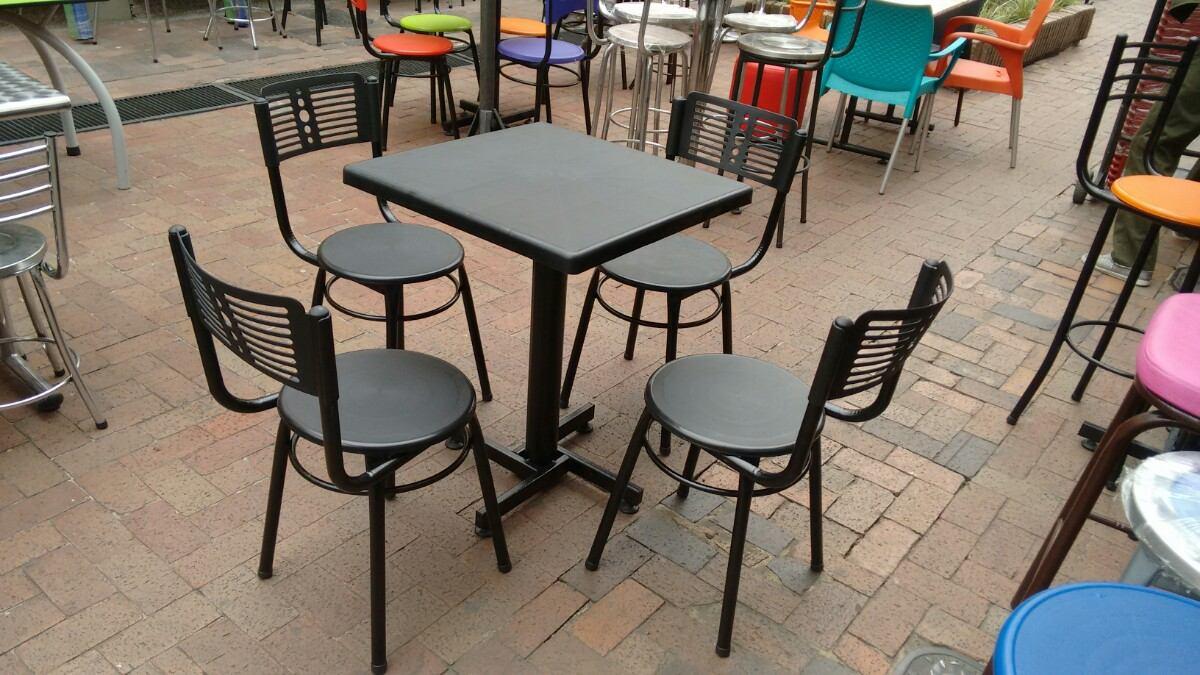 Juego 4 sillas karla y mesa plastico para restaurante y bar en mercado libre - Sillas de cafeteria de segunda mano ...