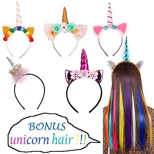 Juego 6 Diademas Unicornio Para Cumpleanos Fiestas Cosplay