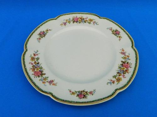 juego 6 platos llanos de loza inglesa johnson bros (a)