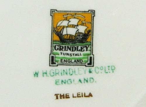 juego 6 platos llanos loza inglesa w h grindley