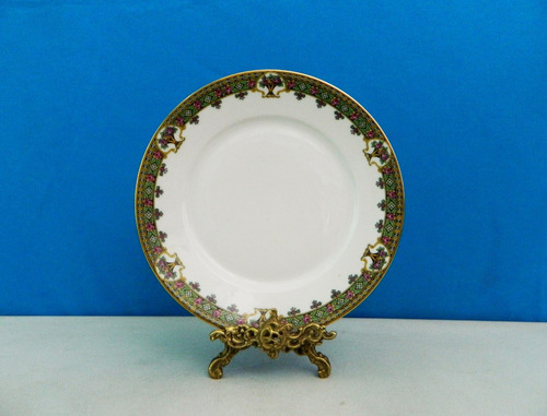 juego 6 platos llanos porcelana limoges chateau royale