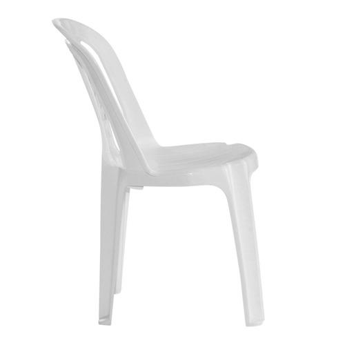 juego 6 sillas de plastico blancas bistro garden life