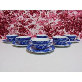Juego 6 Tazas Para Tè Porcelana Tsuji Old Blue