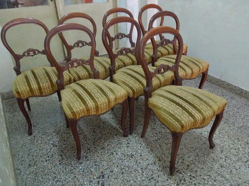 juego 8 sillas francesas luis xv altas comedor sin mesa imp.