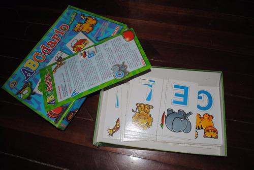 juego abecedario tipo rompecabezas usado