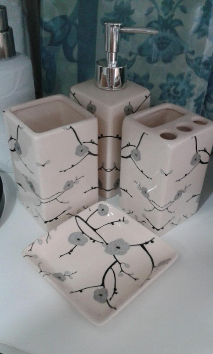 Juego Accesorios Baño | Juego Accesorios Bano Oriental Dispensador Ceramica 4 Piezas