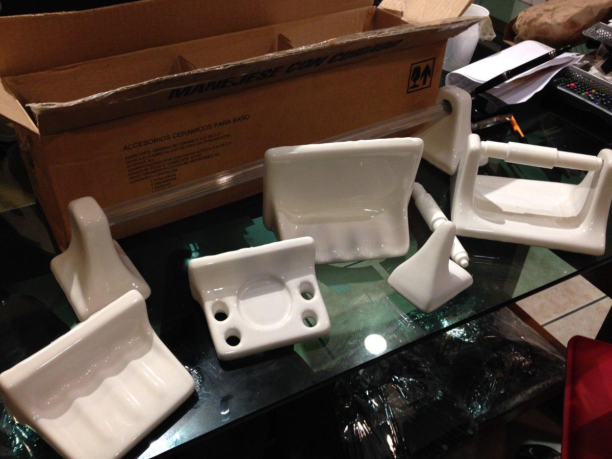 Juego accesorios d ba o interceramic de ceramica nuevos for Juego accesorios bano