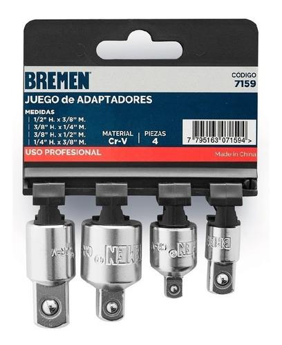 juego adaptadores llaves tubo bremen 4pz + guantes