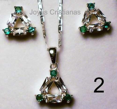 juego aderezo plata 925 esmeraldas joyas oro compromis madre