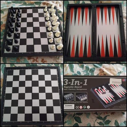 juego ajedrez  3 en 1