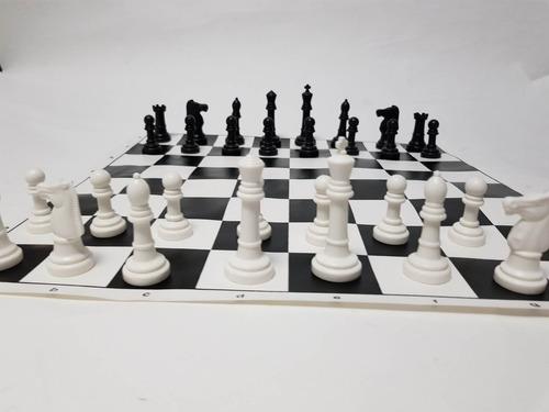 juego ajedrez macizo tablero de tela de 40 x 40 con bolsa