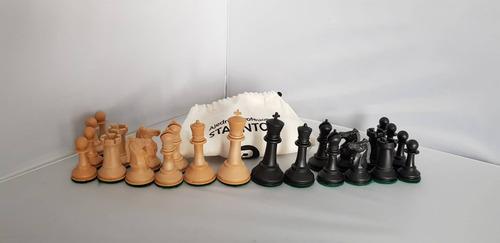 juego ajedrez staunton profesional-bolsa deluxe sin tablero