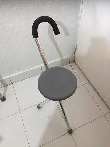 juego andadera y bastón con asiento