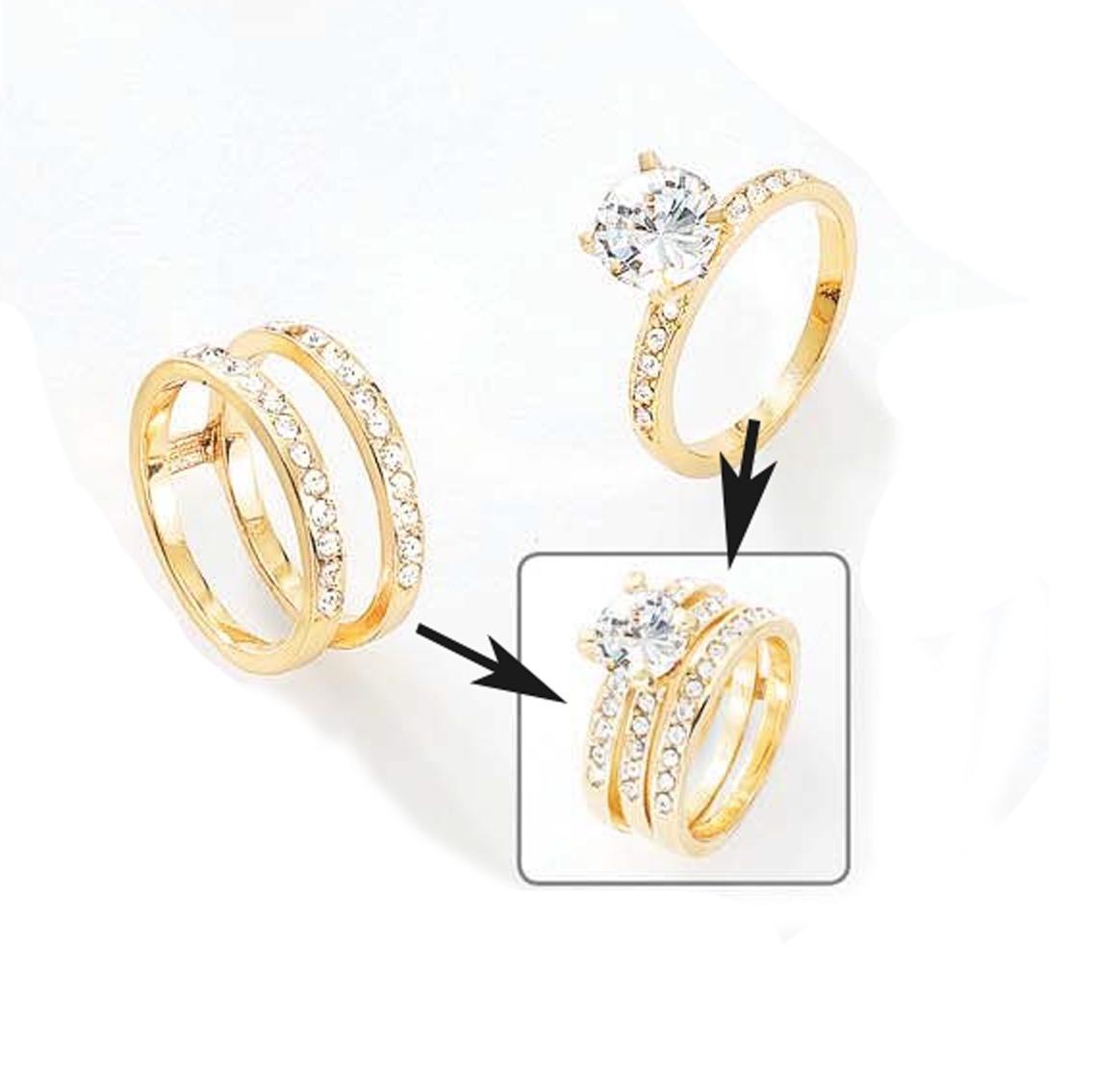Juego anillos complementos dama ba o de oro 18k nice for Banos electroliticos para joyeria
