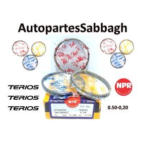 Juego Aros Anillos Toyota Terios 1.3 0.50-0.20 2002-2007