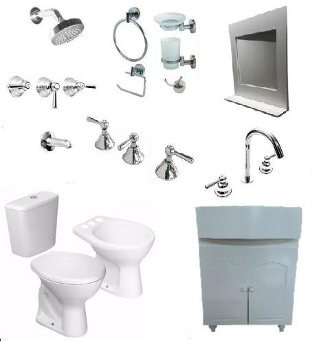 Juego Artefactos Baño Completo Baño Sanitario Griferia Kit ... 8e792799464b
