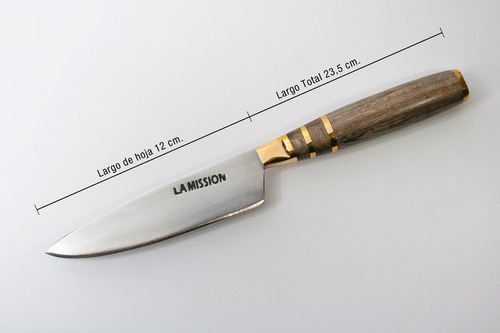 juego asado artesanal mission cuchillo, tenedor vaina m030