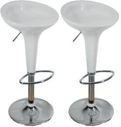 Juego banco moderno bar barra color blanco oferta remate - Bancos para cocina modernos ...