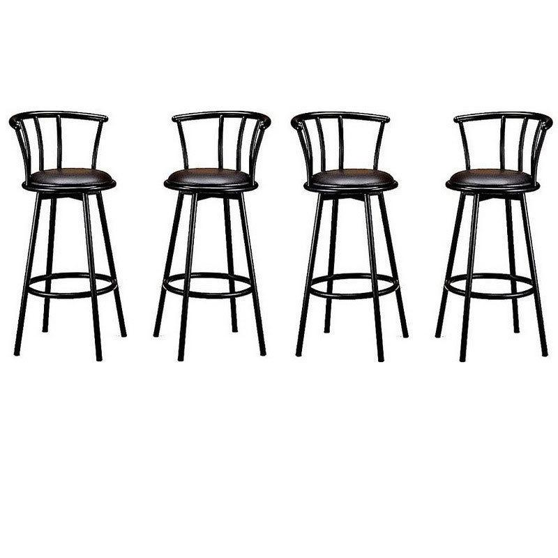 Juego bancos giratorio bar cafeteria barra taburete pm0 for Precio de sillas para barra