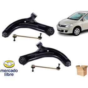 Juego Bandejas + Bieletas Nissan Tiida 2005 A 2013 // 4 Pcs