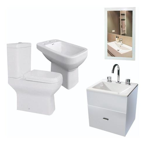 juego baño completo inodoro vanitory colgate 40cm 6 cuotas