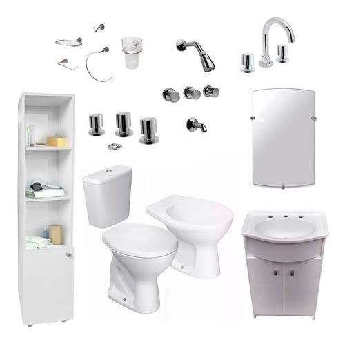 juego baño completo muebles griferías sanitarios envio