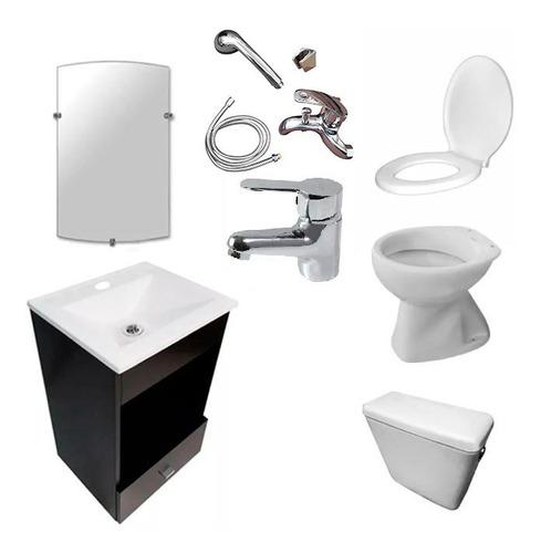 juego baño completo vanitory sanitarios griferia sin i envio