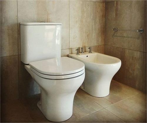 juego baño ferrum veneto inodoro largo+tapa deposito y bidet