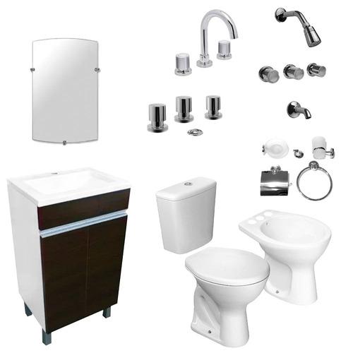 juego baño mueble grifería sanitario accesorios envio gratis