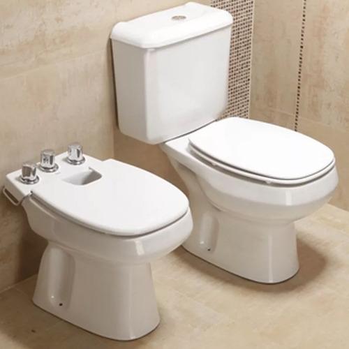 juego baño sanitarios roca monaco, vanitory 64cm ferrum venecia con bacha loza, griferia fv flow monocomando
