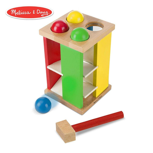 juego bebes torre madera, melissa & doug pound & roll tower