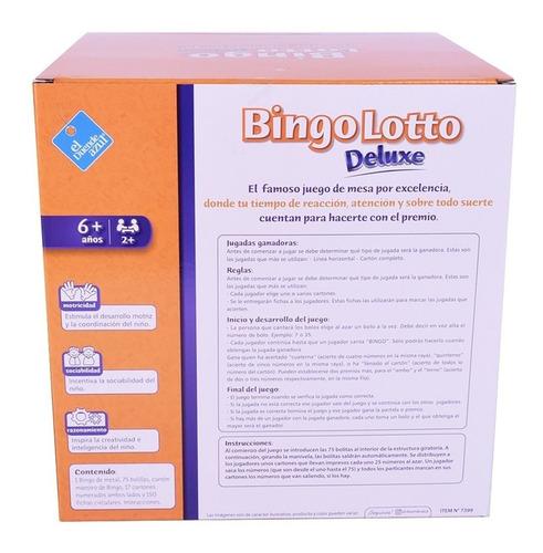 juego bingo lotto de mesa bolillero metal cod 7399 bigshop