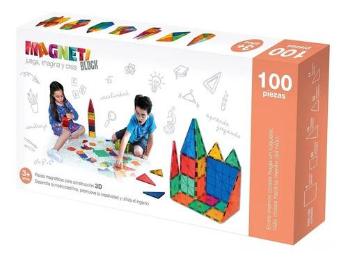 juego bloques magneticos 100 piezas didácticos envio gratis