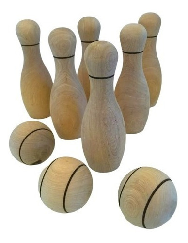 juego bowling infantil 18 cm madera juguete didáctico baum