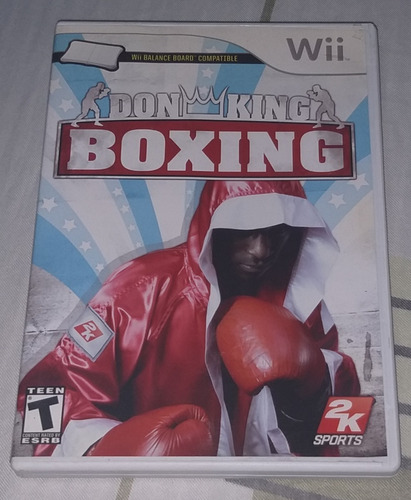juego boxeo don king boxing para wii original (como nuevo)
