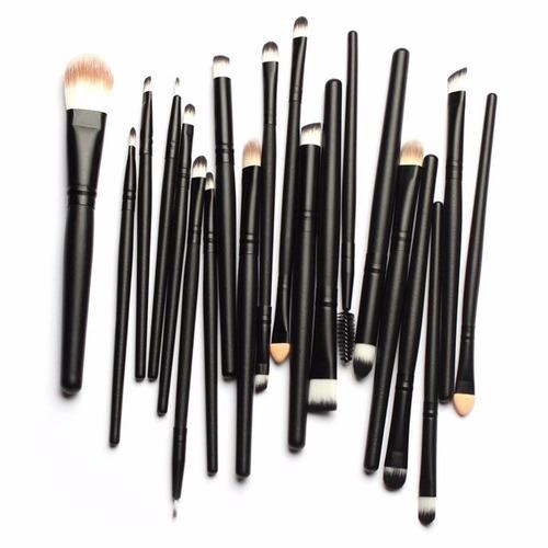 juego brochas maquillaje profesional 20 piezas suaves