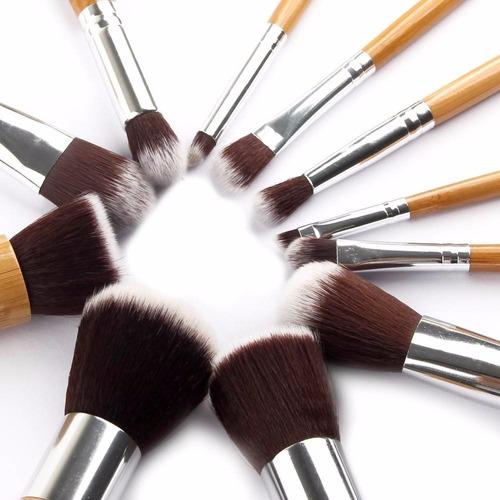 juego brochas maquillaje profesional kit 11 piezas suaves